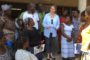 Logbakro, village bénéficiaire du Projet Filets Sociaux Productifs de la région du Bélier, premier village visité en Côte d'Ivoire par la nouvelle Directrice des Opérations de la Banque Mondiale.