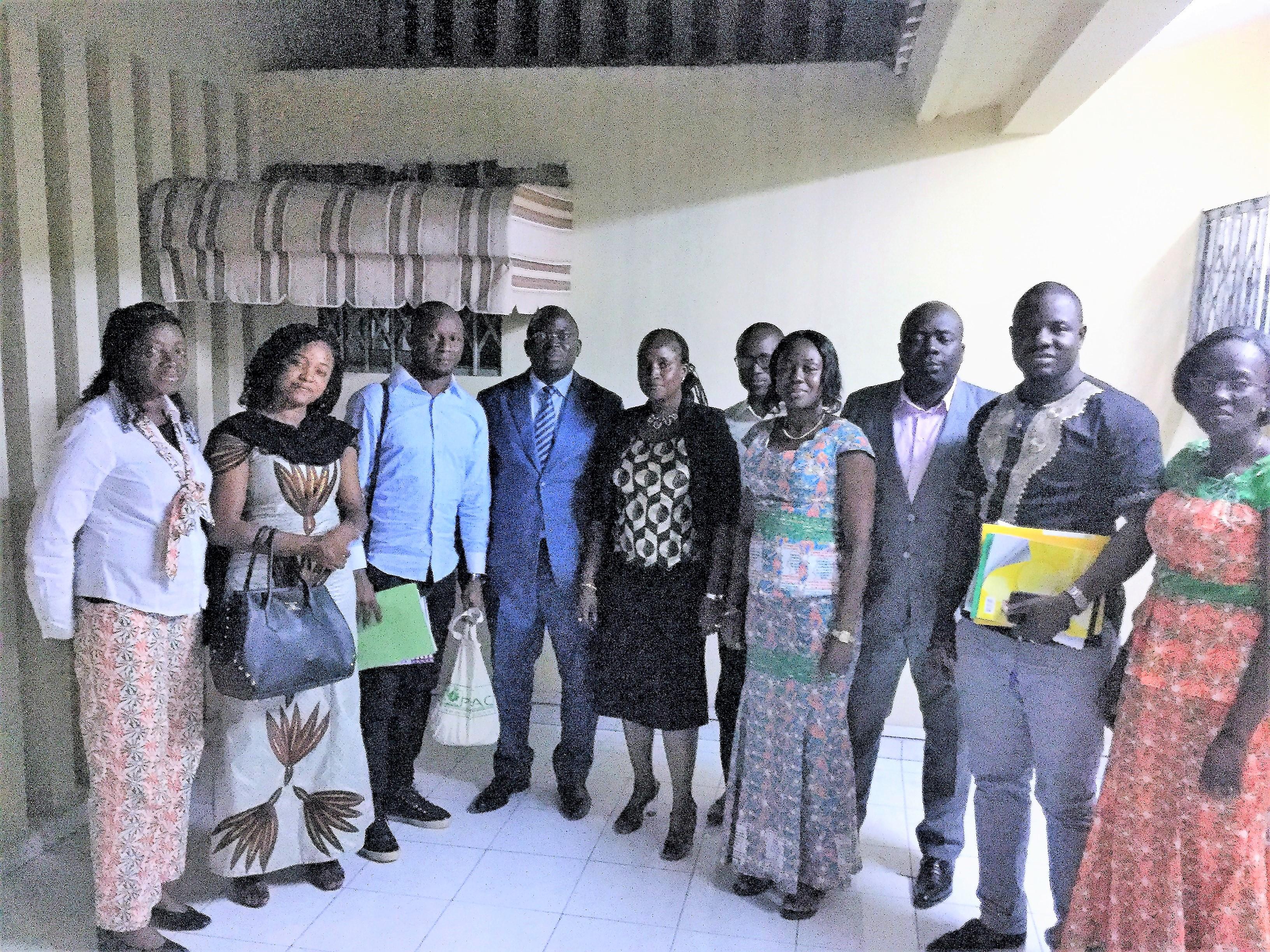 Visite de partage d'expériences : l'Unité de Gestion du Projet Filets Sociaux Productifs reçoit une délégation guinéenne