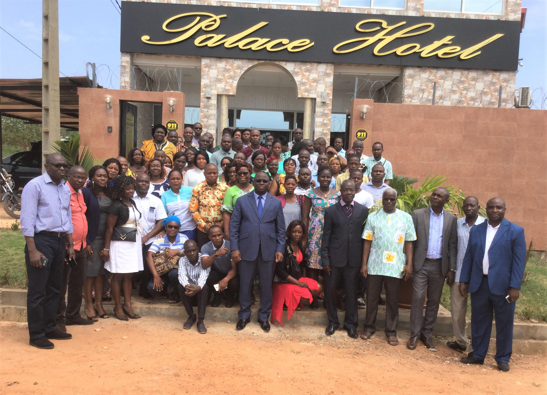 80 Consultants et Agents Communautaires (CAC) recrutés et en cours de formation du 18 au 24 mars 2019 au Palace Hôtel de Yamoussoukro.