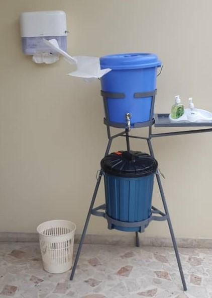 En application des mesures sanitaires prises par le Comité National de Sécurité, le personnel de l'UGP-FSP et les usagers sont invités à se soumettre au protocole de lavage systématique des mains et l'utilisation du gel hydro alcoolique pour la prévention contre le Coronavirus.
