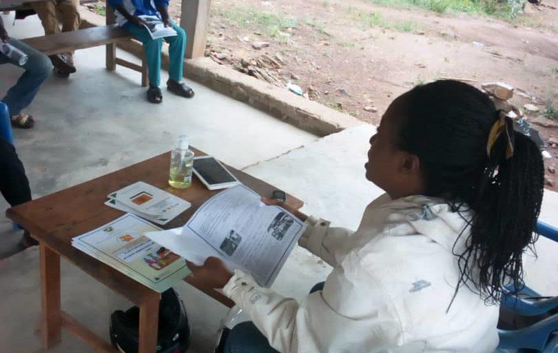 Les CAC et les Travailleurs Sociaux sensibilisent les ménages du projet sur les mesures barrières contre le COVID 19