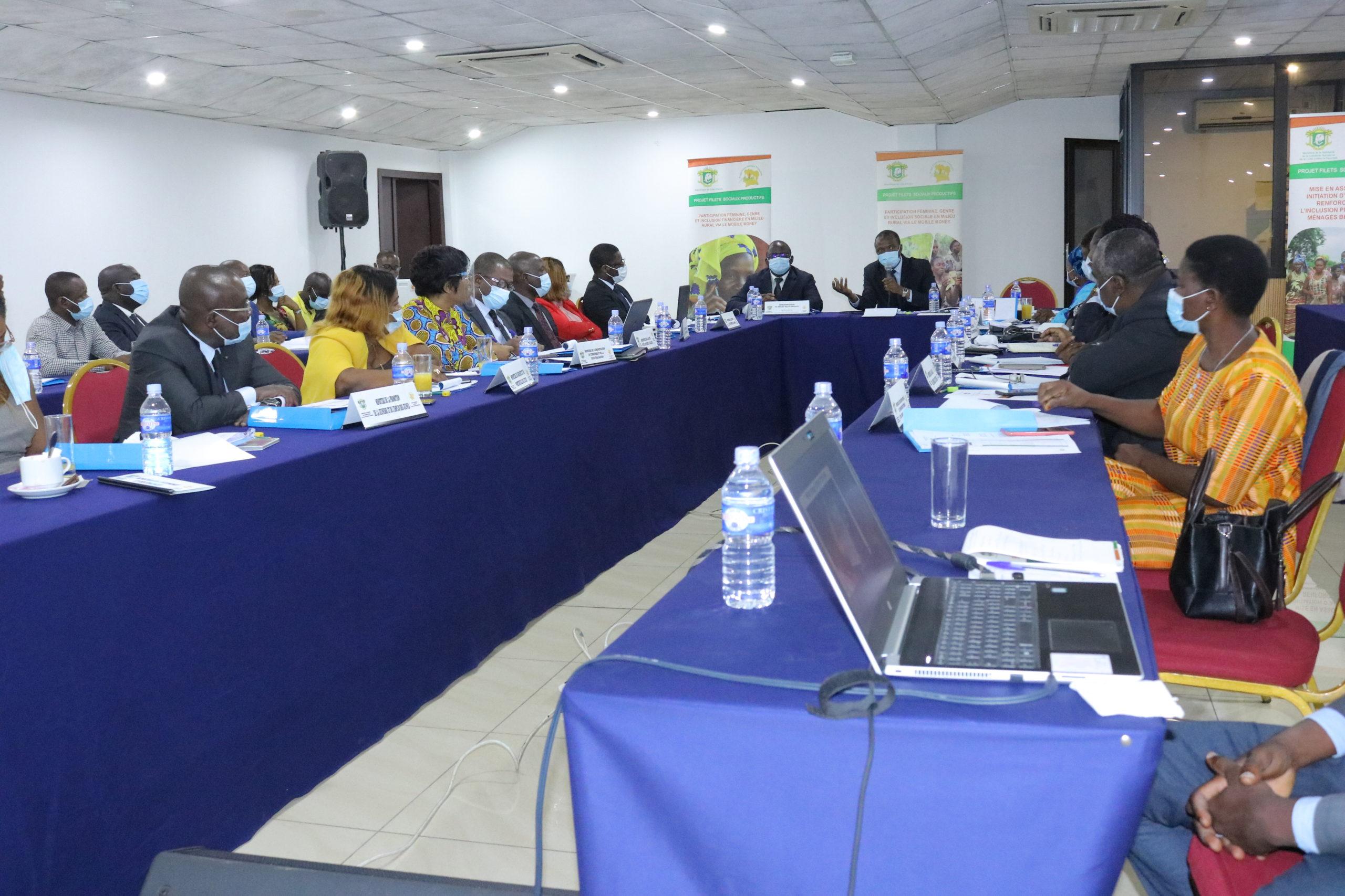 Le Plan de Travail Annuel Budgétisé 2021 de l'UGP-Filets Sociaux Productifs adopté par le Comité de Pilotage